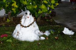Snowman in Hawaii
