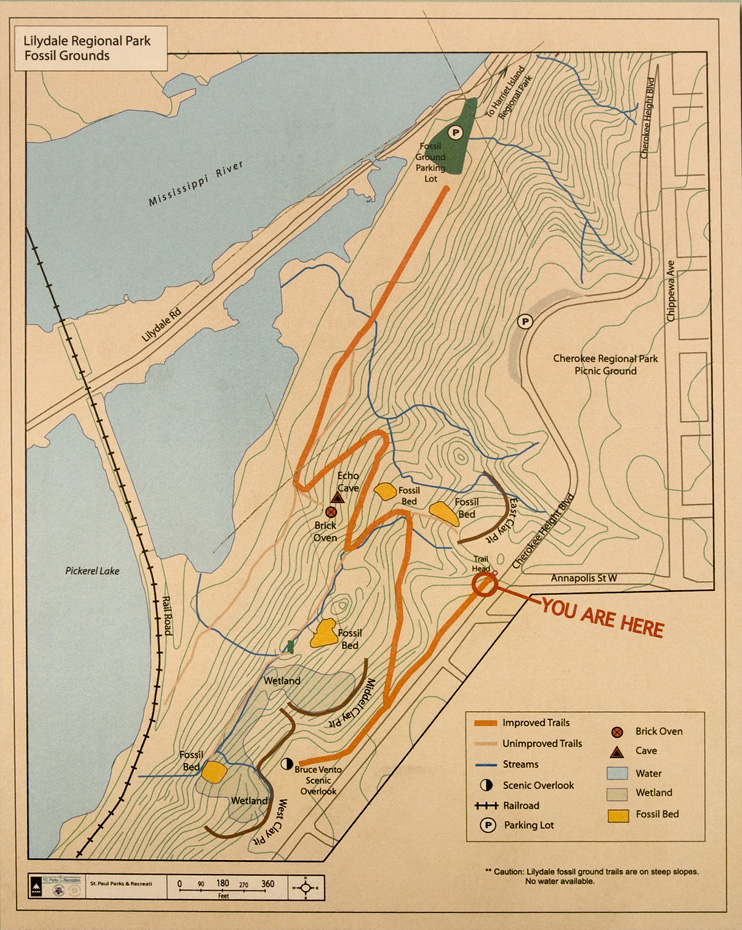 Lilydale Park Map Lilydale Trail Map Located at