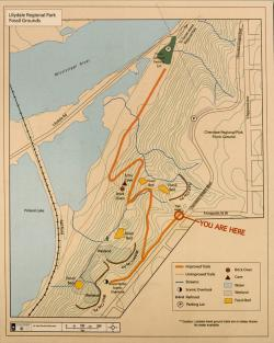 Lilydale trail map: Located at the Bruce Vento Overlook near Cherokee Park.