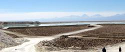 Lithium is harvested from salt water: Lithium is recovered from brine pools in Chile.
