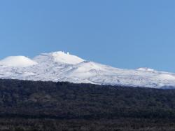 Snow on Mauna Kea: photo taken January 31, 2014.