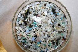 ocean micro-plastic: These samples were collected from the surface water of the North Pacific Ocean by the SUPER expedition in 2008.