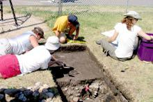 Mill ruins dig: photo by Art Oglesby  Join in an archaeolgy digg at Mill Ruins Park.
