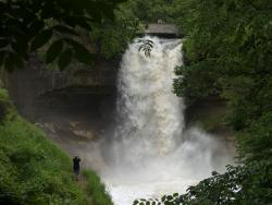 Minnehaha Falls: Recent heavy rains have made the Minneapolis attraction even more attractive.