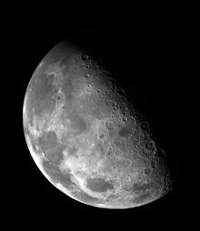 Dry moon: Radar images taken from the moon's south pole have decreased the odds that ice, and therefore water, can be found on the moon's surface. Photo from NASA