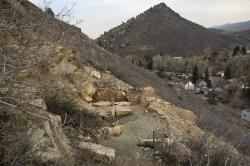 Quarry 10 at Morrison, Colorado: Lakes' historic dinosaur quarry was recently re-discovered on the slopes above town by researchers from the Morrison Natural History Museum.