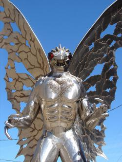 Yeah, sort of scary: I mean, look what it's doing to the concept of public art! Oh, wait, this is the Mothman.