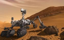 The Curiosity rover: It's going to look for signs of Mars' past habitability. Also, it's way bigger than the other Mars rovers; about 2,000 pounds, and the size of a compact car.
