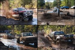 Here's mud on your truck: Here's a sample of mudder truck action. These photos are not from the May 3 event near Isanti, Minnesota, which has generated controversy about how much damage a private property owner can do to his own land.