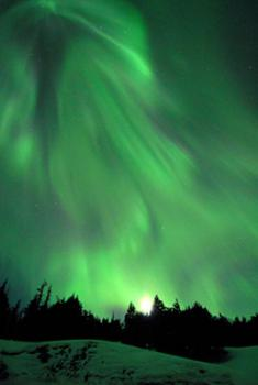 Streaming space light: Satellites on NASA's Themis mission have discovered what may be some of the mysteries behind the northern lights. Charged particles from the sun are blasting through magnetic fields stretching out from Earth's upper atmosphere, bursting with the energy of a medium earthquake.