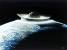 Asteroid hit.: Artist: Don Davis