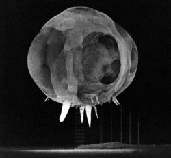 Less than one millisecond after detonation: Rapatronic camera image by U.S. Air Force 1352nd Photographic Group, Lookout Mountain Station