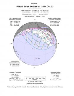 Map for Oct. 23, 2014 partial eclipse