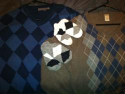 Argyle: Argyle is my favorite print and I love v-neck sweaters!