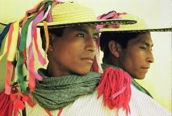 Looking good: Two Maya men show the look of their pishalals.