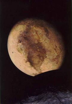 """Demoted again: Pluto's ego took another blow this week when it was discovered that dwarf planet Eris is slightly bigger than the former """"official"""" planet. (Drawing courtesy of NASA)"""