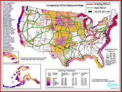Proposed power grid for wind and solar