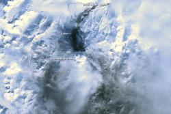 Mt. Redoubt satellite image