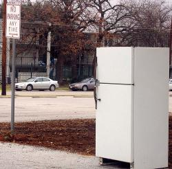 Old refrigerators guzzle energy: Newer refrigerators use 75% less energy