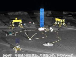 Japanese Robot Base: Rendering of the planned robotic moon base to be built by 2020