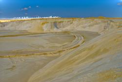 Silica sand mine: Germany, Spring 2007