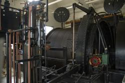 Engine house at Soudan: the equipment still operates the hoist that delivers visitors in and out of the mine shaft.