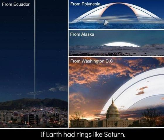 Saturn rings on Earth?