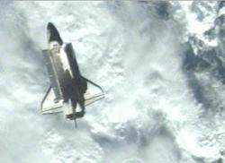 Space shuttle detaches from ISS