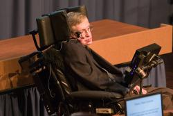Stephen Hawking: Photo courtesy Peter Kelemen at FLICKR
