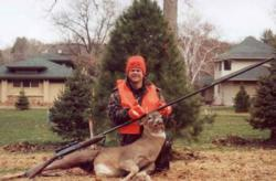 Buck luck: This hunter used the Quiet Gun to bag a deer.