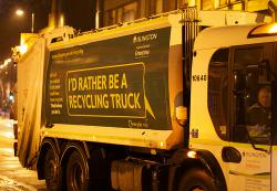 I'd Rather be a Recycling Truck: A lucky 1000 Waste Management recycling trucks run on cleaner-burning natural gas (compared to conventional diesel).  Are more in the making?