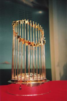 True trophy: Under a statisical analysis of the past 30 years of baseball seasons, the true champion of the game would be crowned following a 265-game season and a best-of-11 World Series. (Photo by madmolecule)