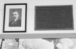 William Harlow Reed: A portrait and plaque mark the pioneer paleontologist's work at the University of Wyoming Geological Museum.