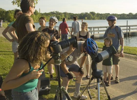 Everyone wants a look: Crowds gathered to get a view of the last transit of Venus until 2117.