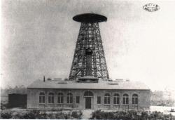 Wardenclyffe tower and building c. 1903