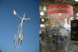 Winds of change: If you're into controversial ideas like climate change, head over to the Eco building where you can see new innovations in sustainability. They've got electric cars, solar cells, and other new eco-friendly stuff. It used to be called the Technology building. What's up with that?
