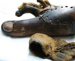 Wooden toe: This wooden toe found in an Egyptian tomb passed a gait test to show that it really can help someone walk who's missing a big toe.